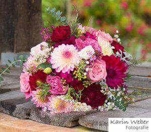 Brautstrauss Rosa Pink Rot Das Bluhende Atelier