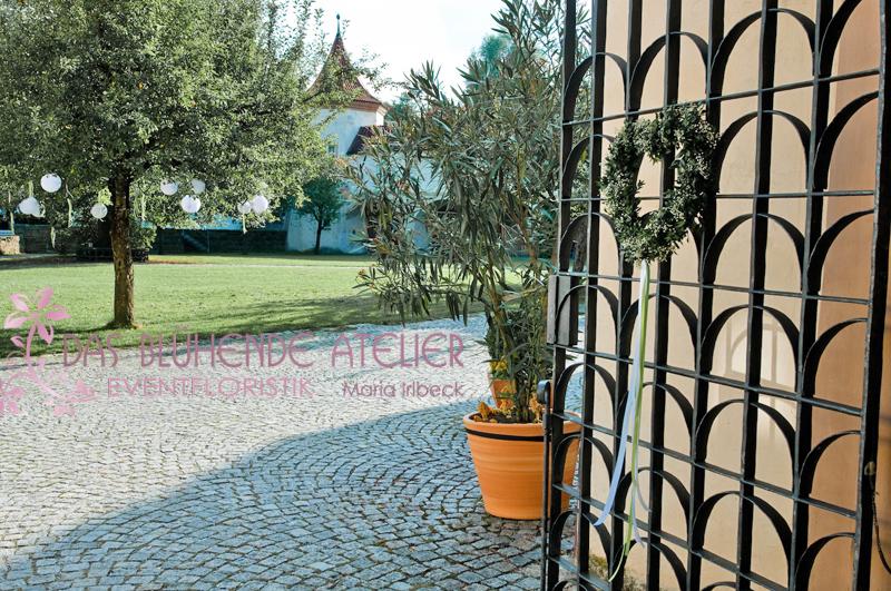 Schloss Blutenburg, Hochzeitsdekoration, Tischdekoration, Brautstrauß, Dekorationskonzepte, Das blühende Atelier