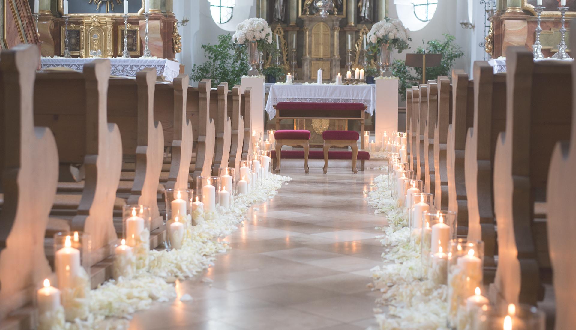 Hochzeitsdeko, Zeremonie, Kirche