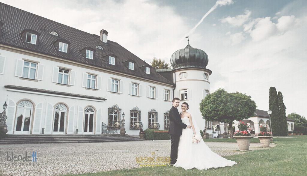 Schloss Höhenried, Starnberger See, Hochzeitsdekoration, Tischdekoration, Brautstrauß, Dekorationskonzepte