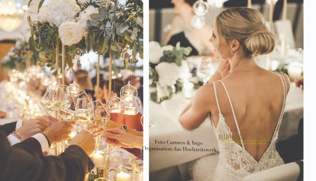 Hochzeit Salzburg, Gwandhaus, Geometrische Pokal, Girlande, Tischdeko
