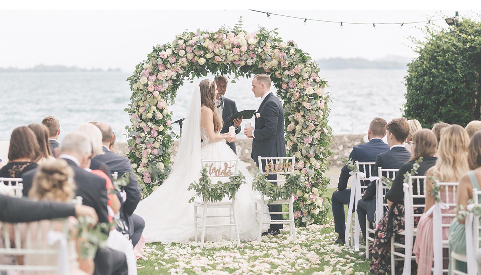 Heiraten in Italien, Freie Zeremonie, Hochzeitsdeko