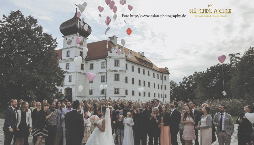 Schloss Hohenkammer, Hochzeitsdekoration, Tischdekoration, Brautstrauß, Dekorationskonzepte